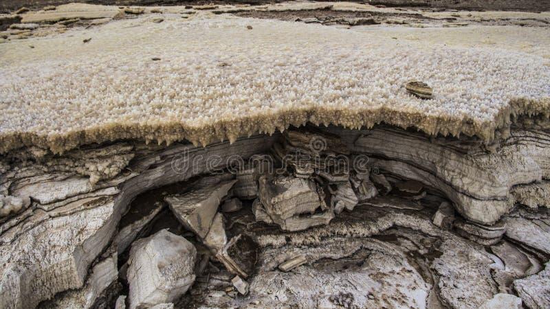Effondrements de mer morte au plus bas endroit au monde images stock