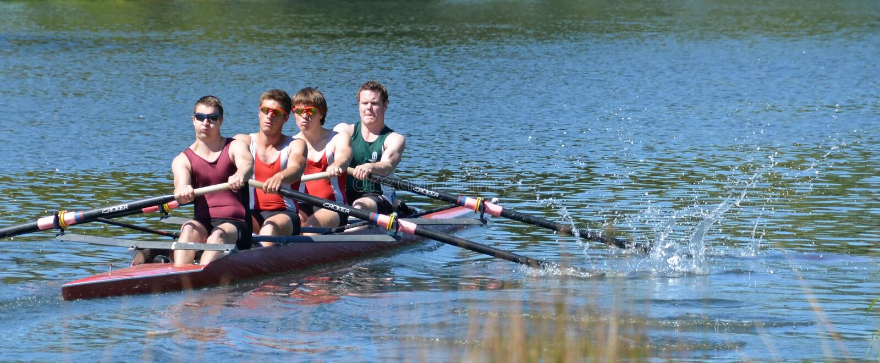 100% Effort on the Avon River, Christchurch. stock photos