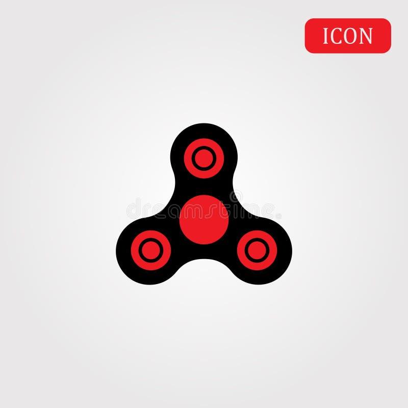 Effort d'icône de jouet de personne remuante de main et soulagement d'inquiétude illustration de vecteur