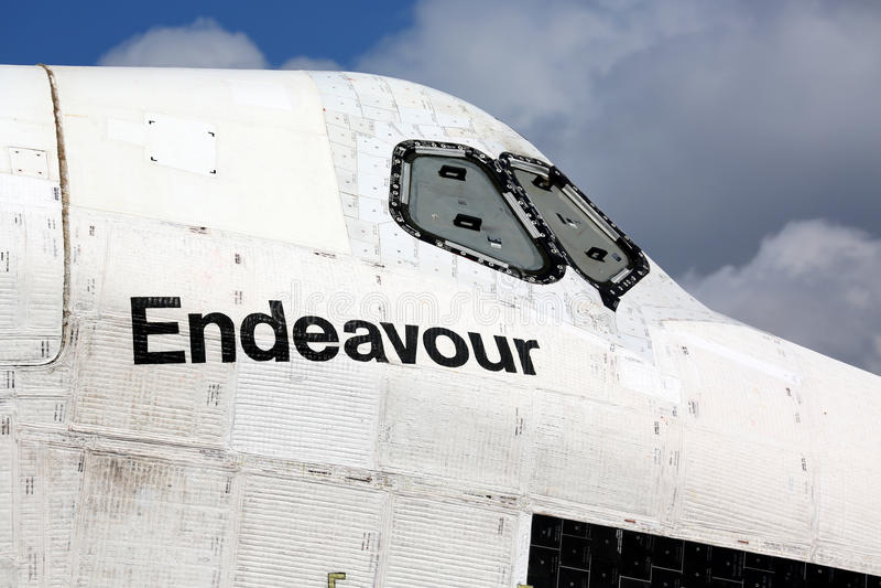 Effort de navette spatiale photographie stock libre de droits