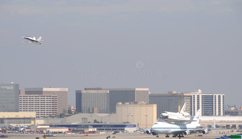 Effort de navette spatiale, Los Angeles 2012 photographie stock libre de droits