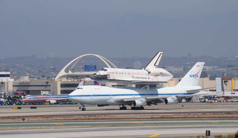 Effort de navette spatiale, Los Angeles 2012 images libres de droits