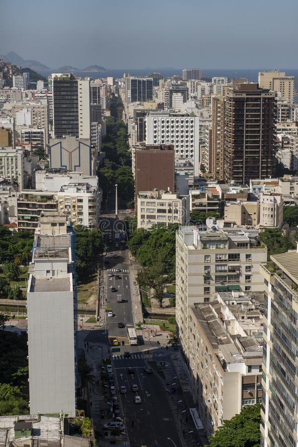 Effort de Rio de Janeiro, vue d'uper photos libres de droits