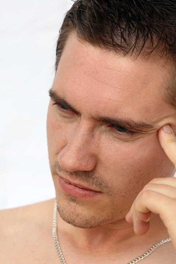 Effort et maux de tête image stock