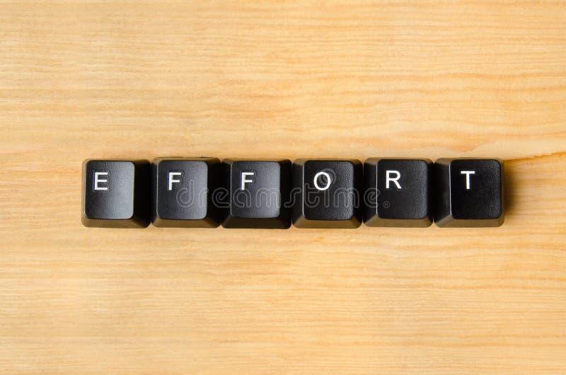 Effort word stock images