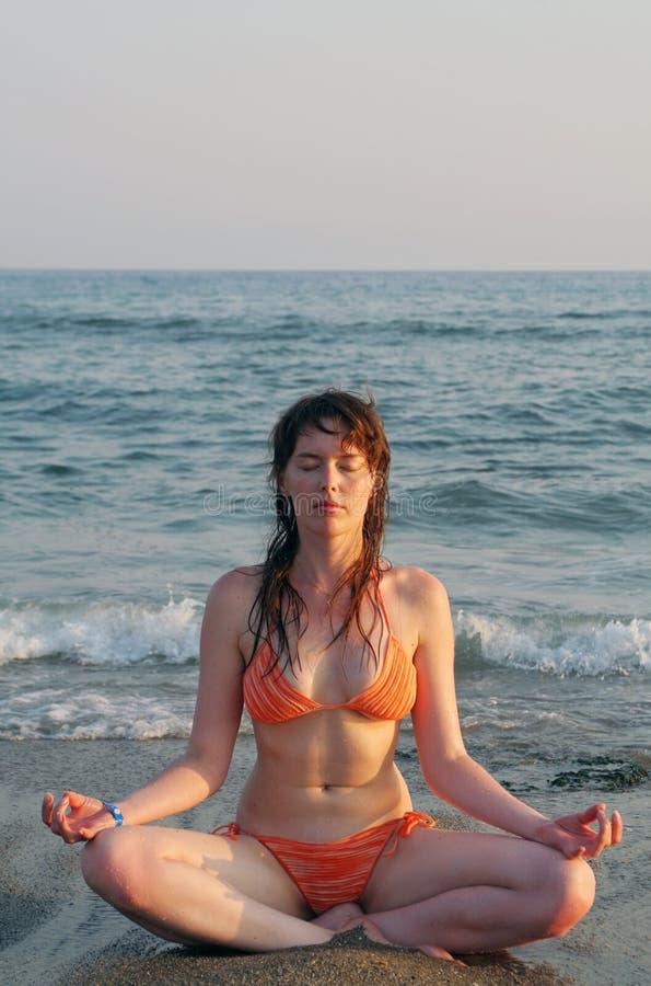 Effortless yoga royalty free stock image