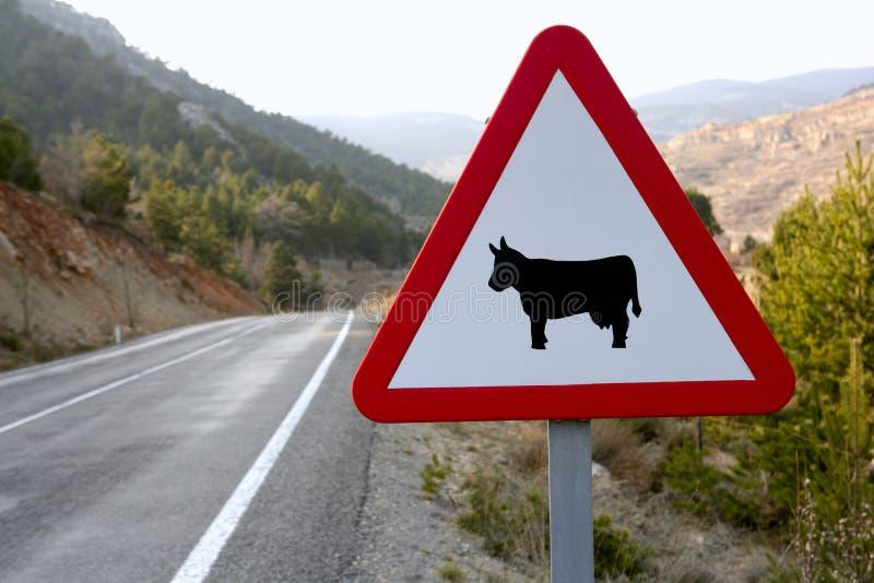 effraye la circulation européenne de signe de route photos libres de droits