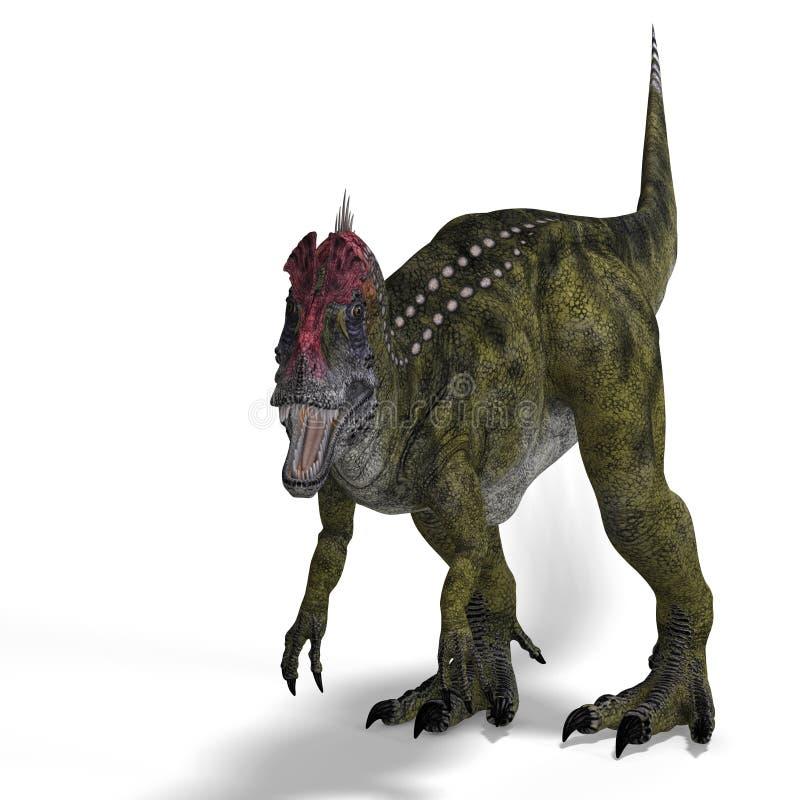 effrayer de dinosaur de cryolophosaurus illustration de vecteur