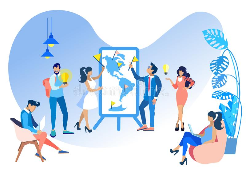 Eficacia y productividad del ejemplo del vector libre illustration