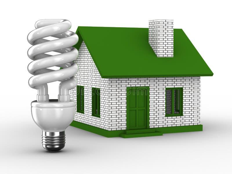 Eficiência de potência da casa ilustração stock