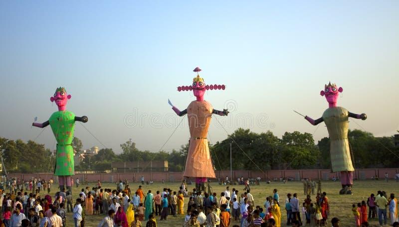 Efigies de Ravan en Dusherra imágenes de archivo libres de regalías