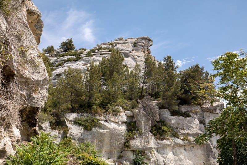 ` Efner, Les Baux De Provence, le Bouches-du-Rhône, Provence de Val d photos libres de droits