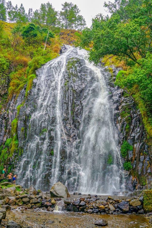Efrata瀑布samosir 免版税图库摄影