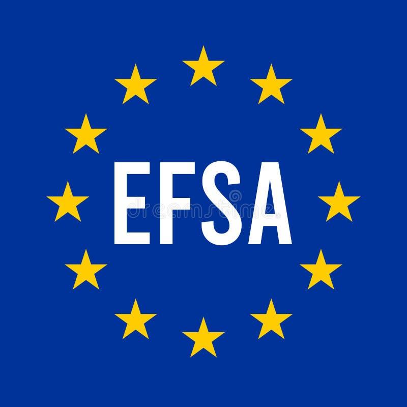 EFSA-teken met Europese vlag vector illustratie