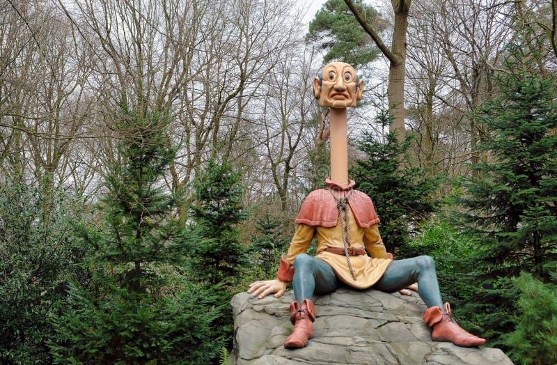 Efteling, Themepark nei Paesi Bassi, Fairytale Forest, attrazione di Longneck john immagine stock libera da diritti