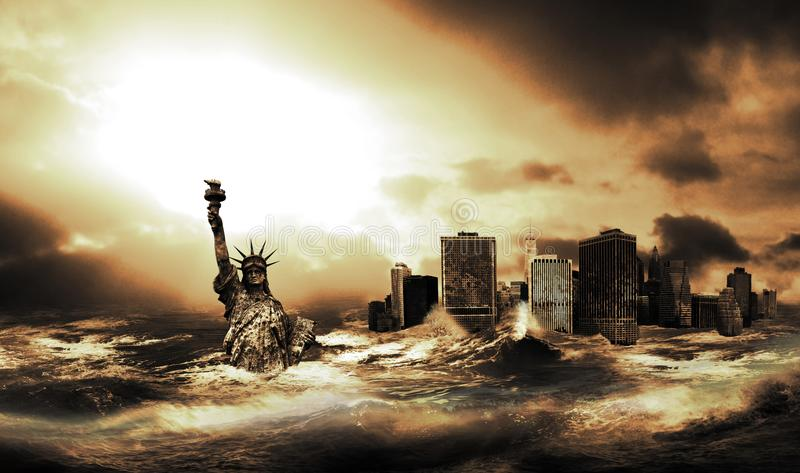 Efter den stora tsunamin royaltyfri foto