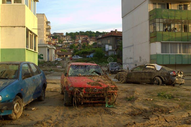 Efter flod i den Varna Bulgarien Juni 19 royaltyfria foton