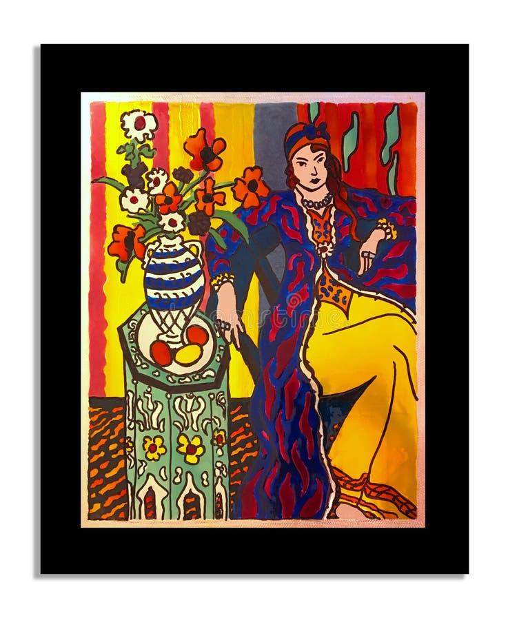Efter Henri Matisse f?rgpulver p? tenn royaltyfri bild