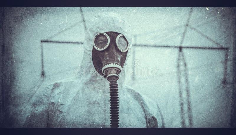 Efter kemisk katastrof arkivfoto