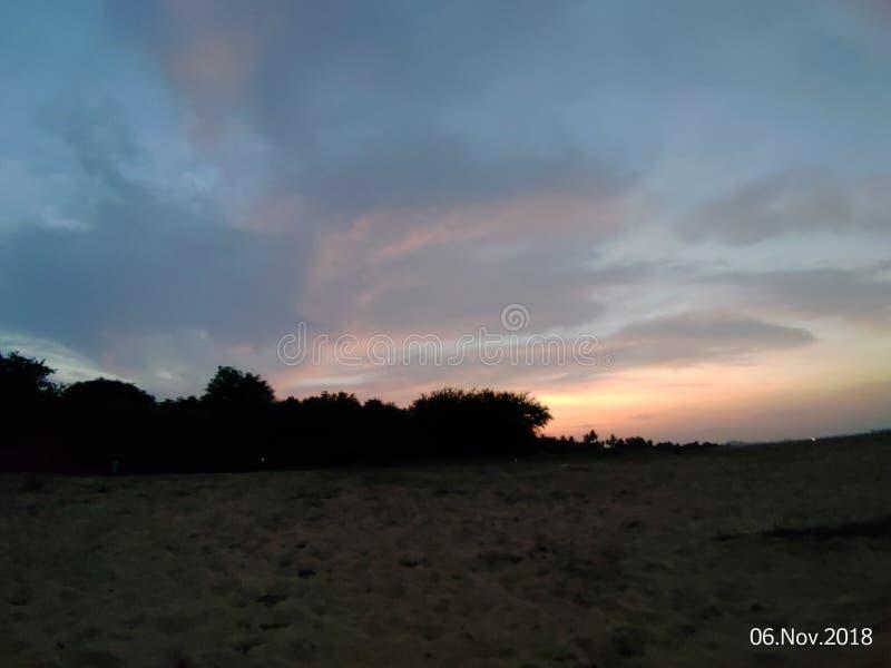 Efter solnedgång royaltyfri fotografi