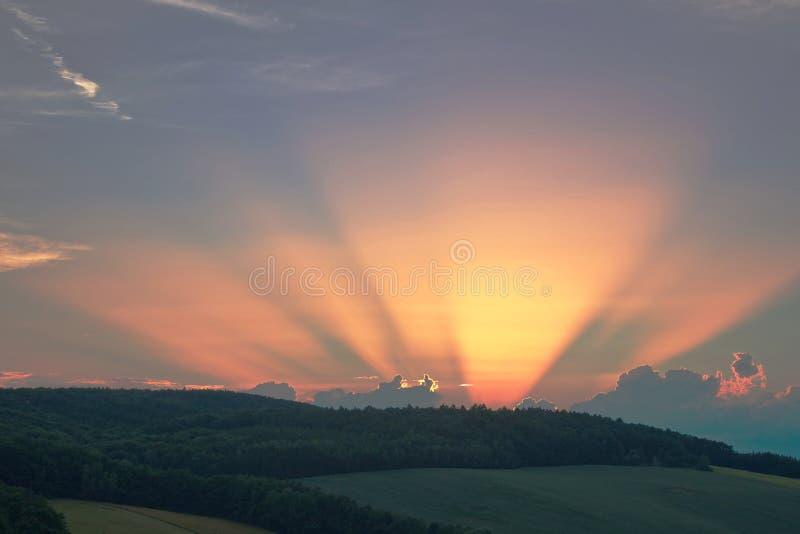 Efter solnedgång royaltyfria bilder