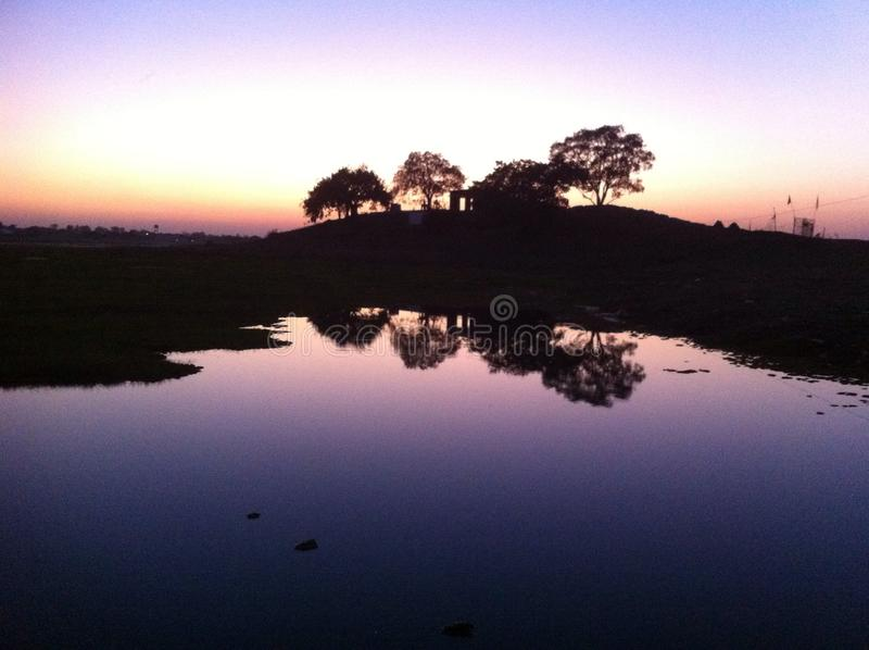 Efter solnedgången arkivbild