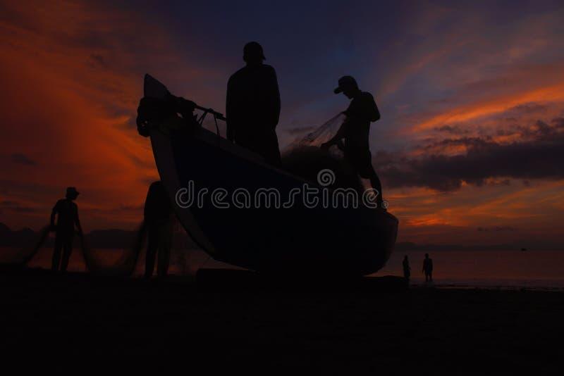 Efter solnedgången arkivfoton