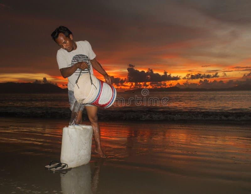 Efter solnedgången royaltyfria foton