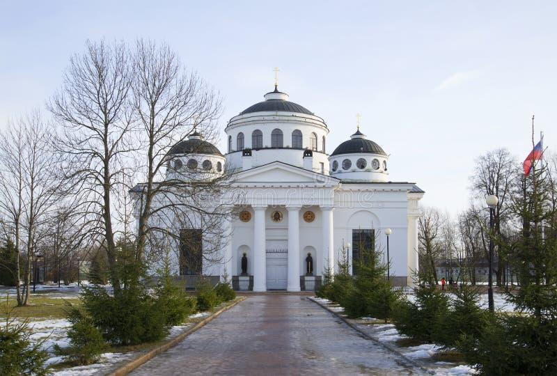 Eftermiddag för Sophia (uppstigning) domkyrkamarsch Tsarskoye Selo royaltyfri fotografi