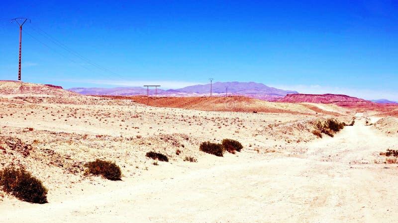Efterrätt nära Boumalne Dades, Marocko arkivfoton
