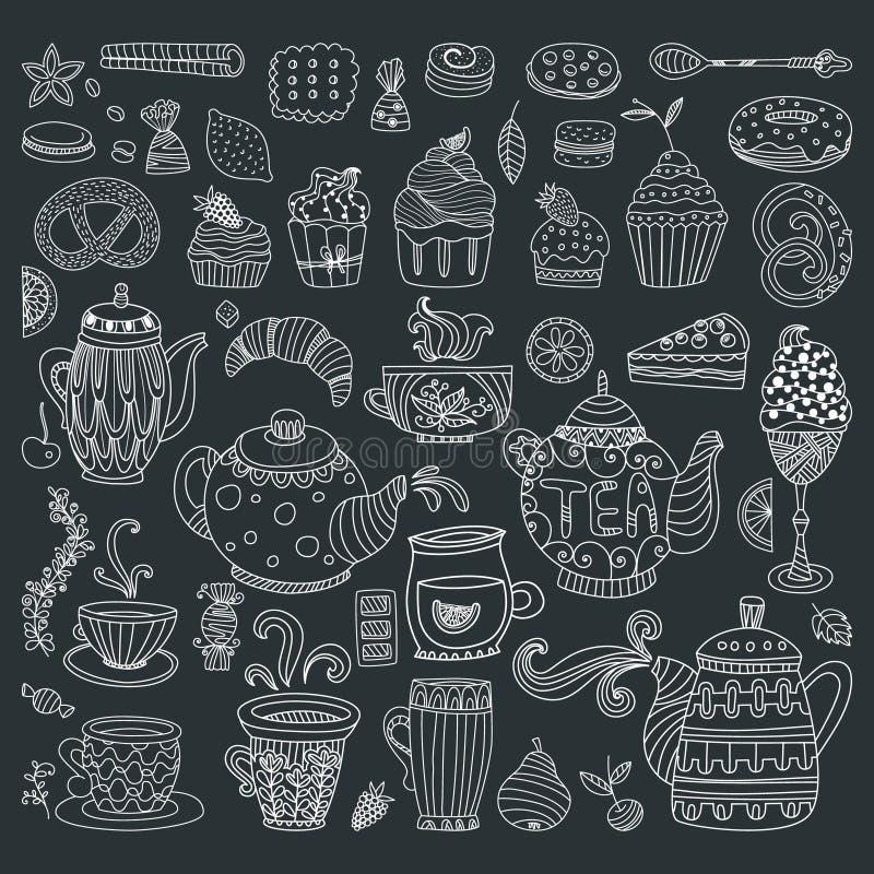 Efterrättbegrepp stock illustrationer