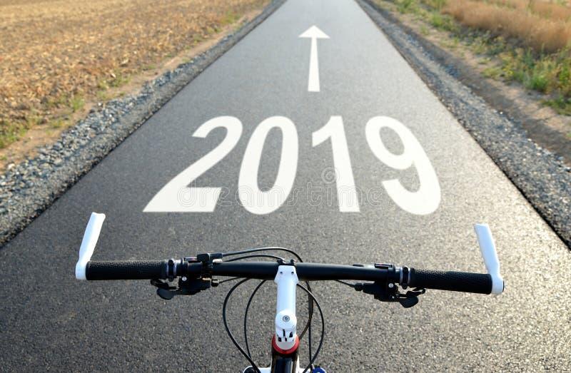 Eftersänd till det nya året 2019 royaltyfri fotografi