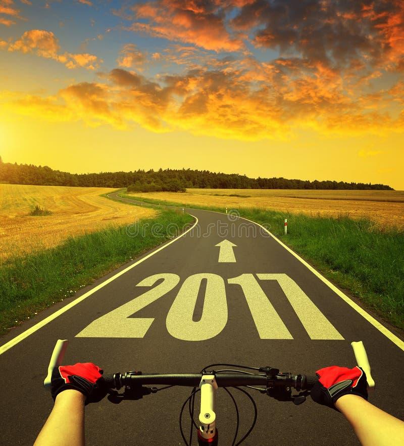 Eftersänd till det nya året 2017 arkivbild