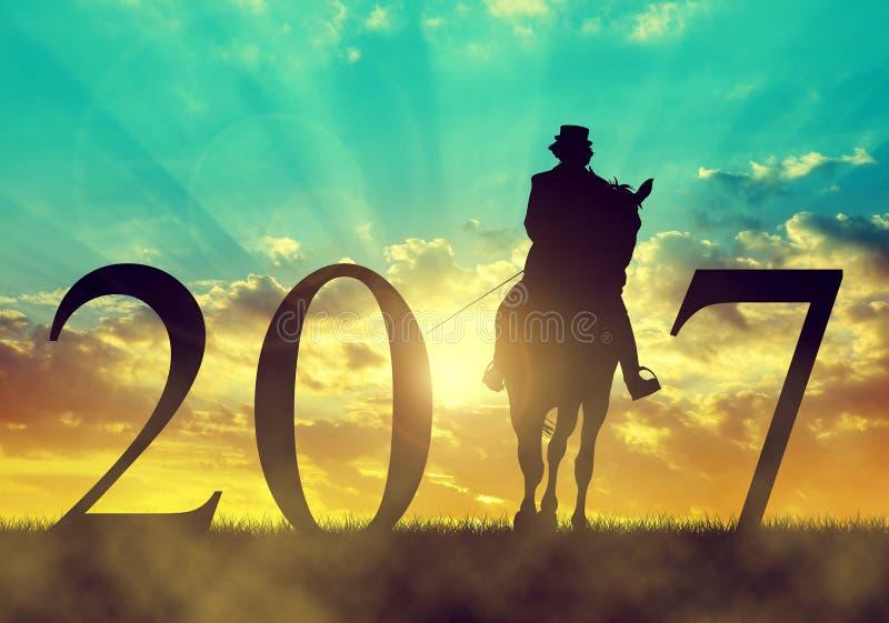 Eftersänd till det nya året 2017 arkivfoton