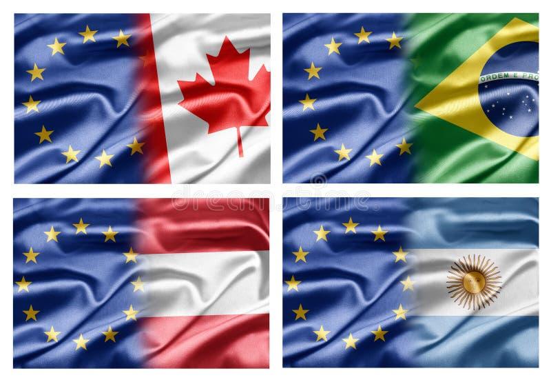 EG och länder vektor illustrationer