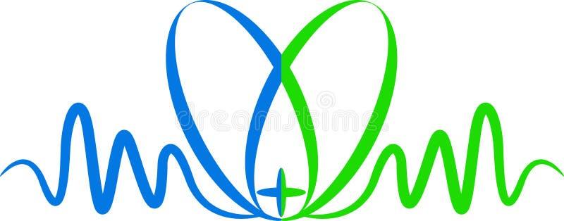 egc λογότυπο καρδιών διανυσματική απεικόνιση