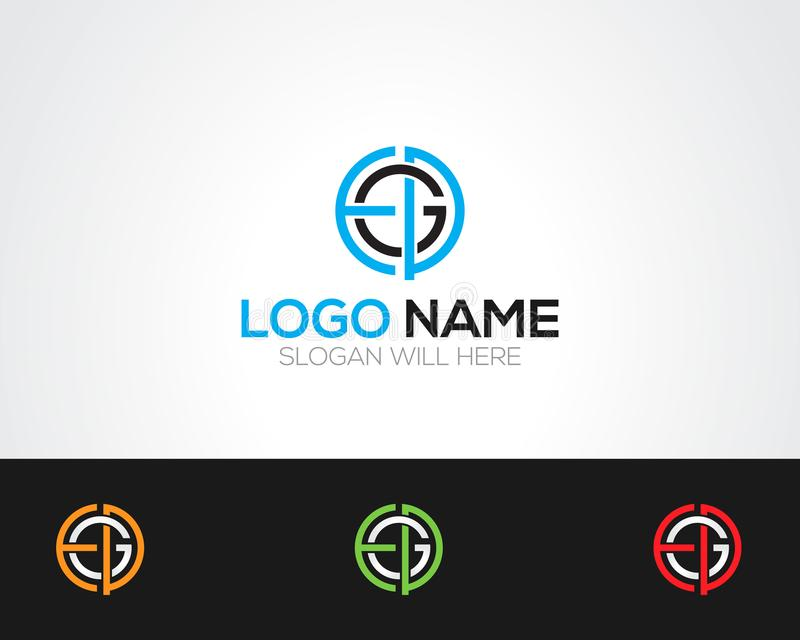EGD Letter Logo Template online store vectors illustration. This is very easy to use. U ca Use as your won simply stock illustration