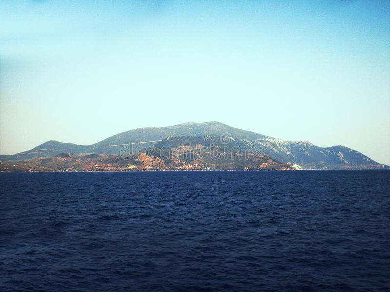 Egeïsch eiland stock foto