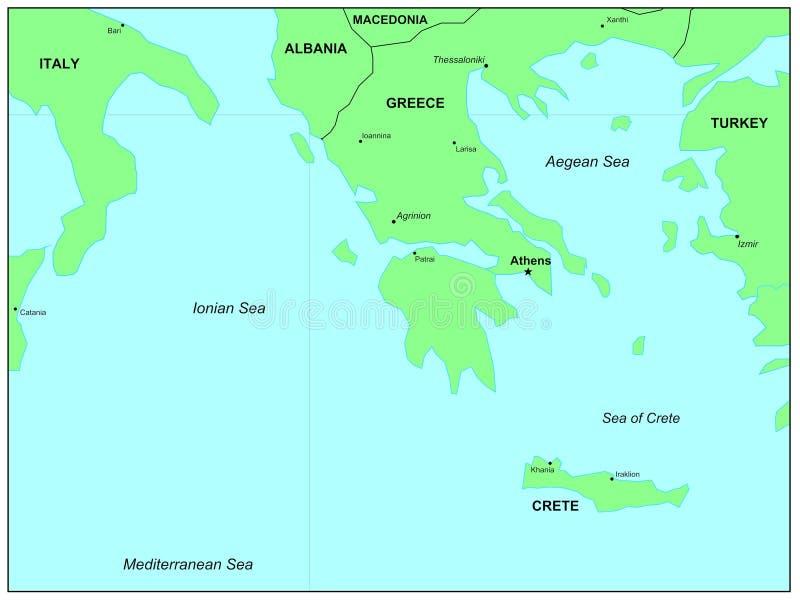 Egeïsche Overzees stock illustratie
