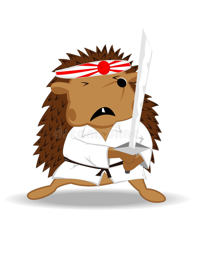Egel ninja vector illustratie
