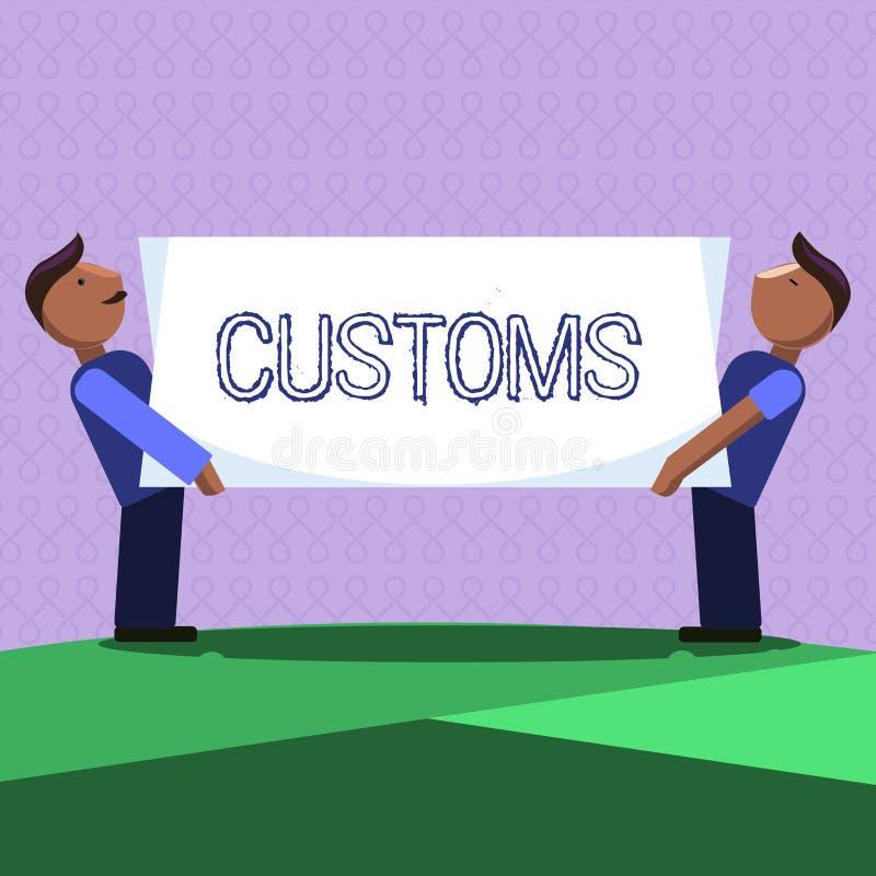 Egenar för ordhandstiltext Affärsidéen för officiell avdelning administrerar samlar arbetsuppgifter på importerat gods royaltyfri illustrationer