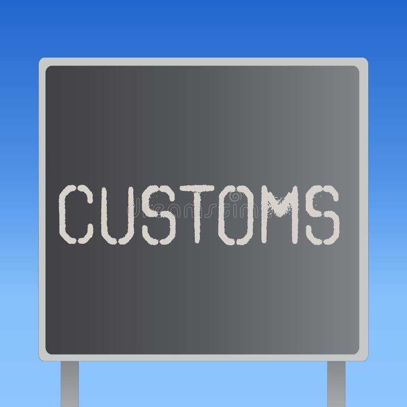 Egenar för ordhandstiltext Affärsidéen för officiell avdelning administrerar samlar arbetsuppgifter på importerat gods vektor illustrationer