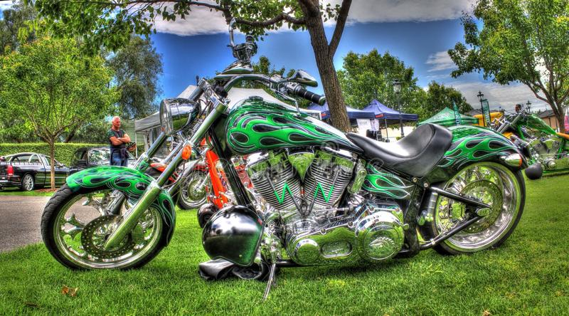 Egenn planlade motorcykeln royaltyfri fotografi