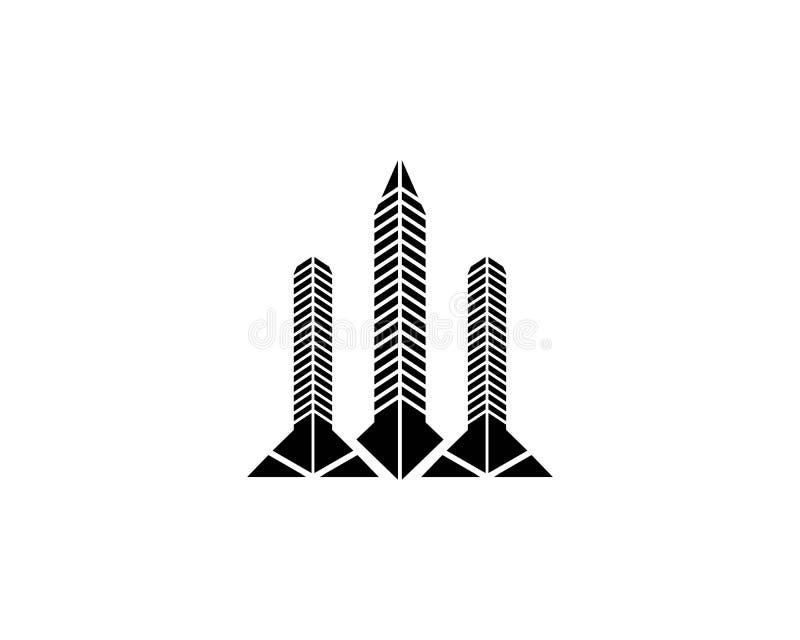 Egenskaps- och konstruktionslogodesign royaltyfri illustrationer