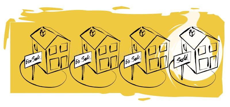 egenskapsförsäljning vektor illustrationer