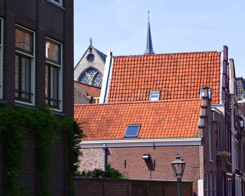 Egenskapt holländsk gatasikt arkivbild
