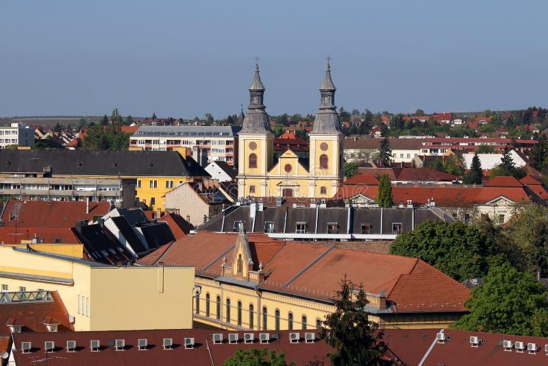 Eger cityscape imagens de stock royalty free
