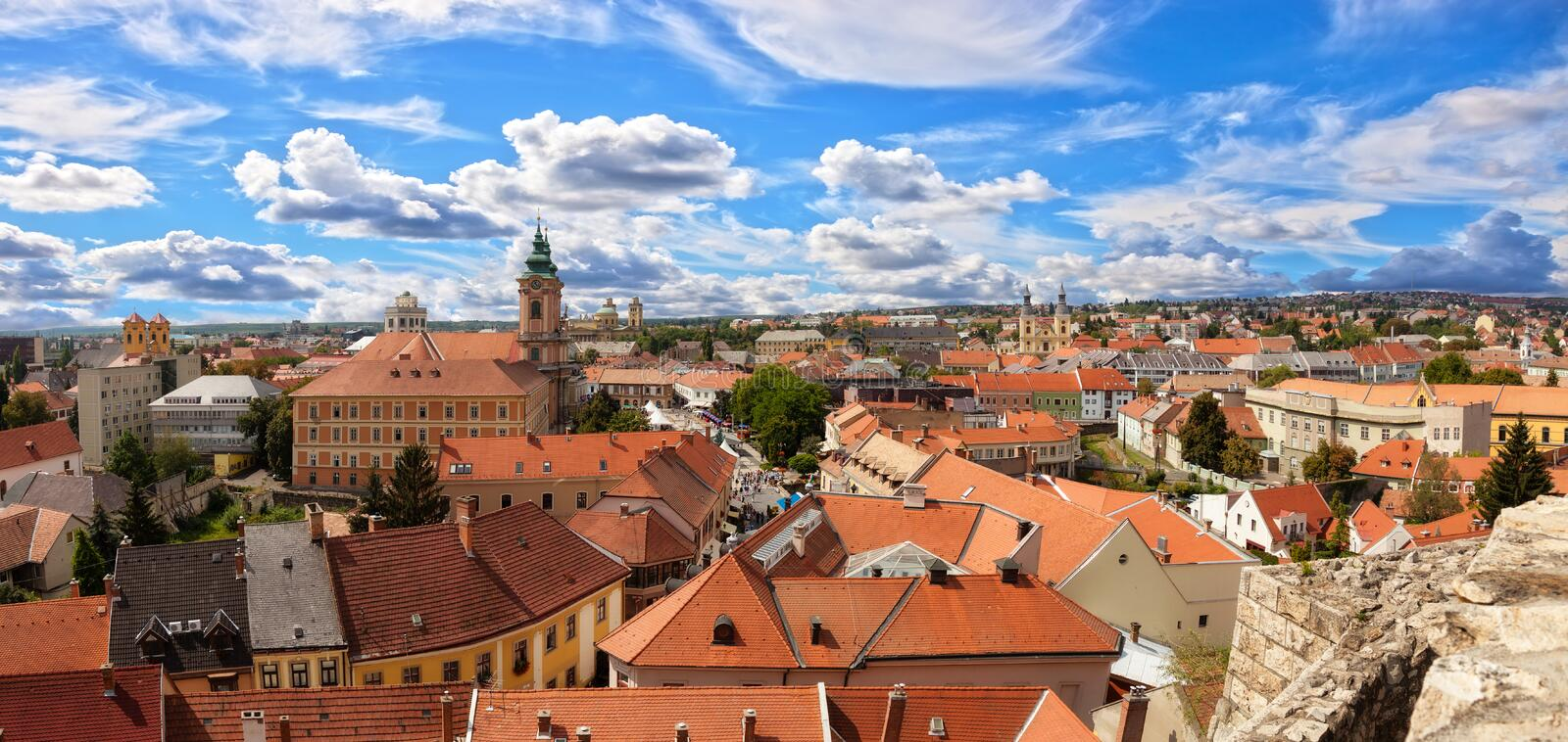 Eger royalty free stock photography