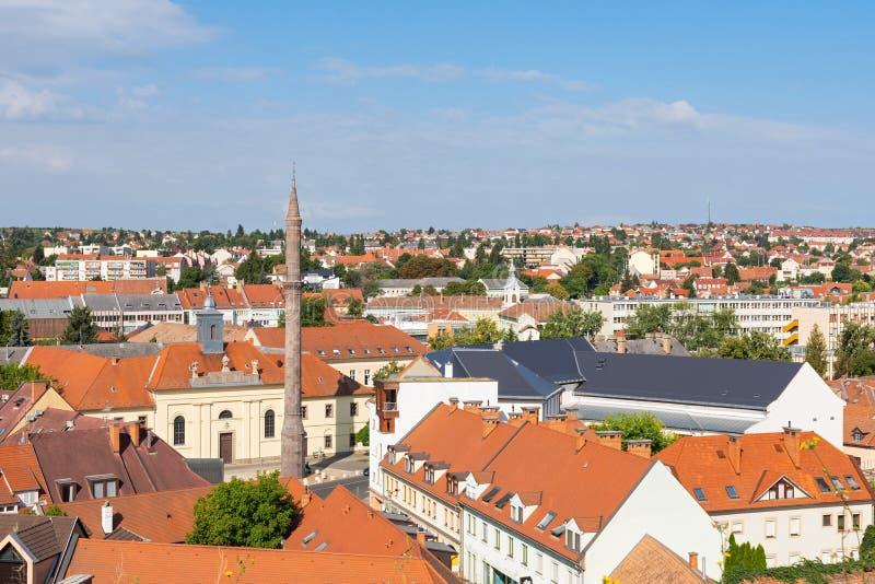 Eger stad, Ungern arkivfoto