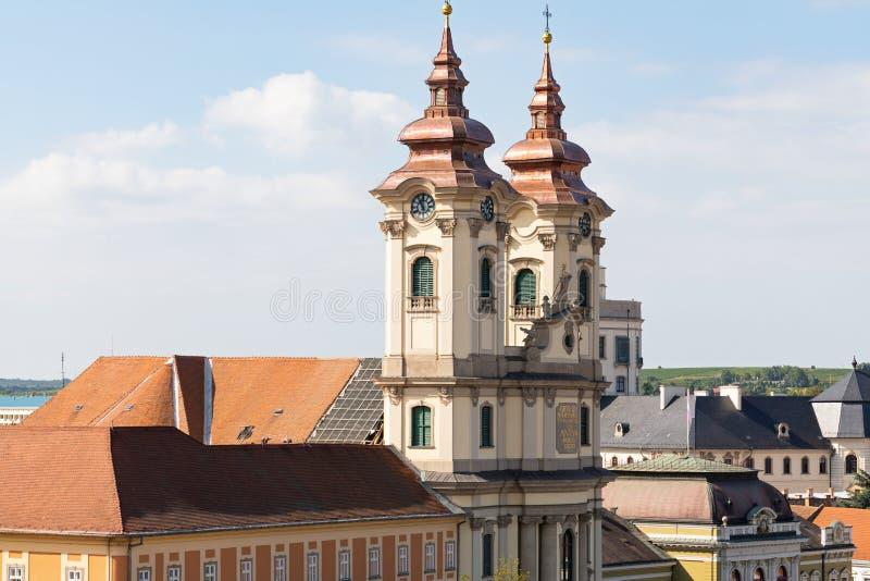 Eger stad, Ungern royaltyfri fotografi
